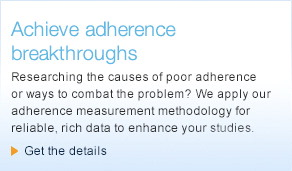 Researching the causes of poor adherence or ways to combat the problem? We apply our adherence measurement methodology for reliable, rich data to enhance your studies.